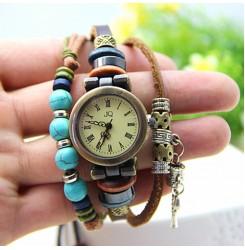 Гривна часовник с мъниста