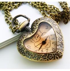 Колие с часовник сърце