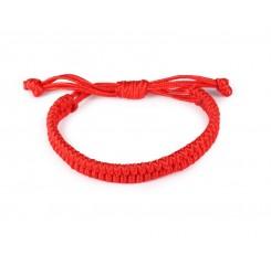 Мъжка червена гривна с плетка