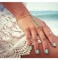 Дамска гривна за плажа- зелена или червена