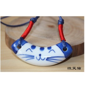 Дамско керамично колие - котенце
