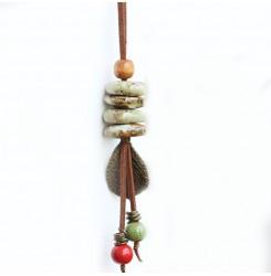 Ръчно изработено керамично колие тип висулка