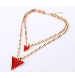 Колие с пирамида- червено, лилаво, черно или синьо