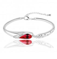 Гривна с червен или син кристал