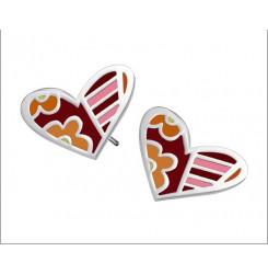 Дамски обеци сърце